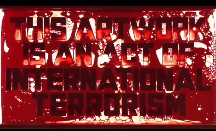 """ANDREI MOLODKIN, Bloodline, 2020. 3 channel video 02':26"""""""